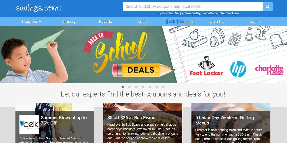 20 Best Coupon Sites Savings