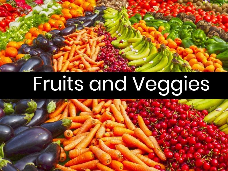 5 Foods Help Migraines Fruits and Veggies