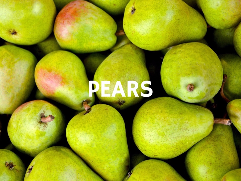 6 Natural Fat Burners Pears