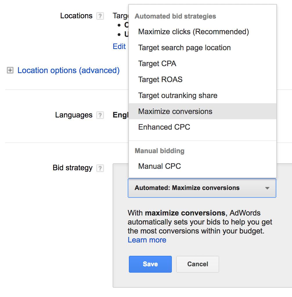 Google AdWords Bidding Article Image 2