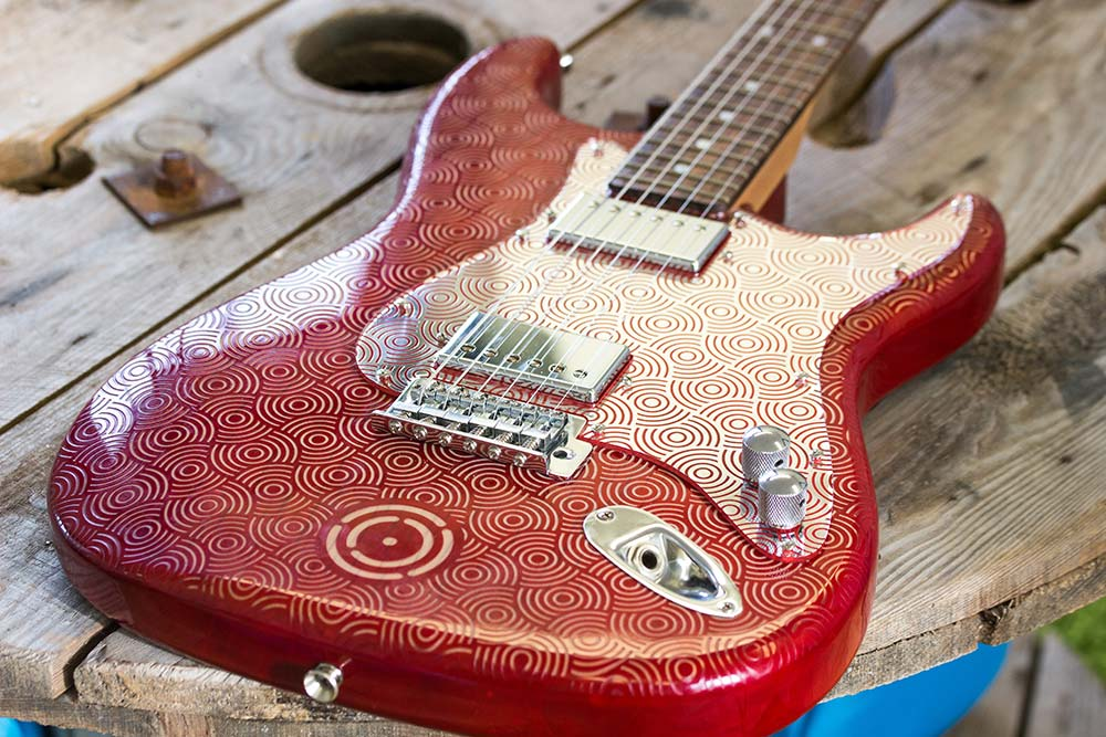 Geo Circle Laser Engraved Guitar Article Image