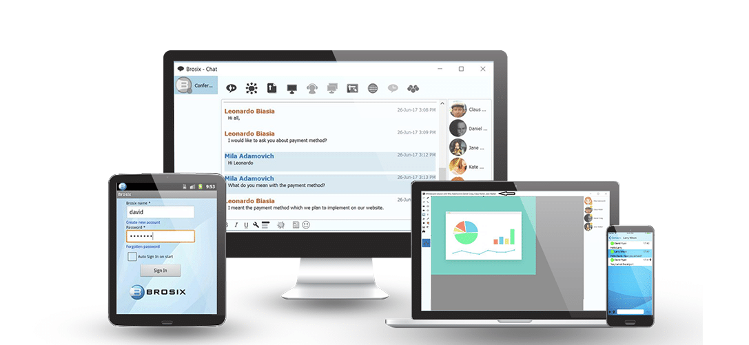 Instant Messaging Companies : Brosix instant messenger secure improved intra company