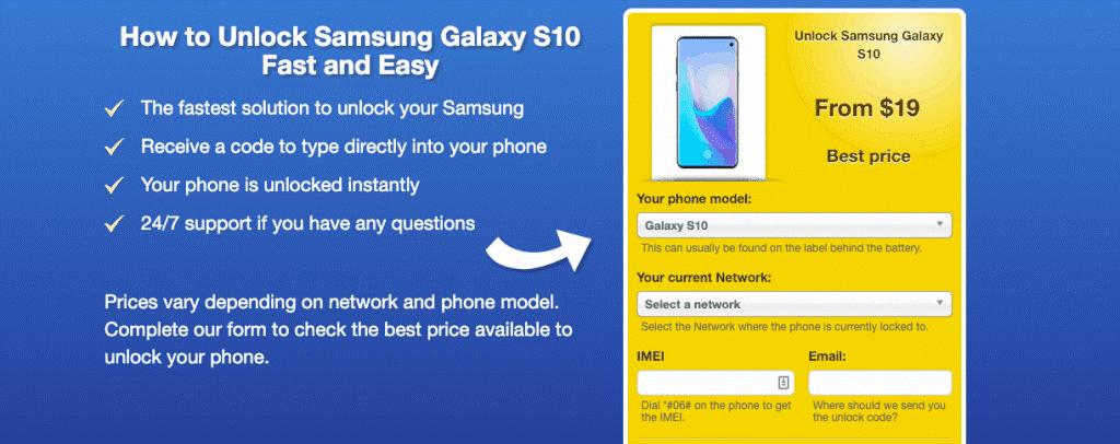 Unlock Samsung S10 Tutorial Article Image 2