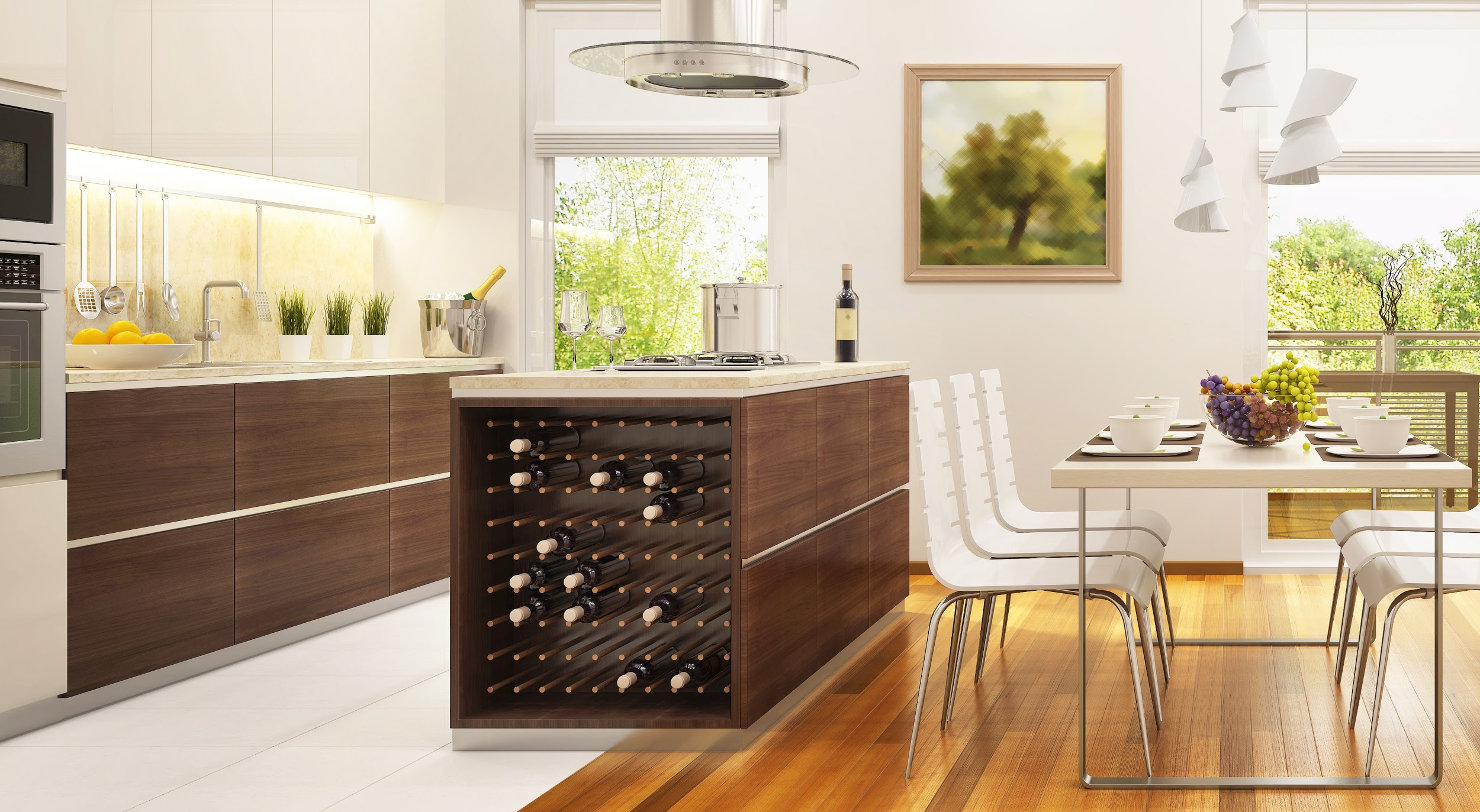 Kitchen Island Wine Rack Article Image