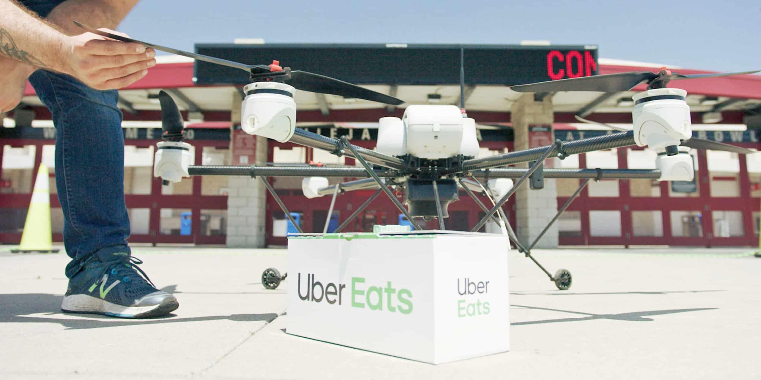 Uber Drones Meals Header Image