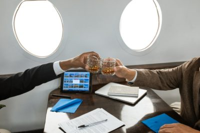 Business Celebration With Jet Charter Image1
